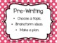 Writing Process Clip Chart (Polka Dot)