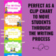Writing Process Clip Chart Posters - BIG KID Neon Theme