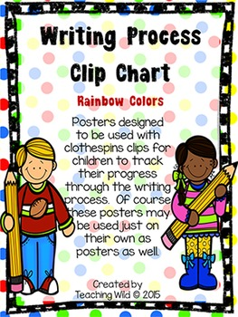 Writing Process Clip Chart Tracker (Rainbow Colors)