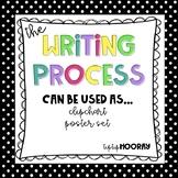 Writing Process Clip Chart or Posters - Polka Dots