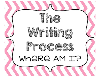 Writing Process Clipchart (Chevron)