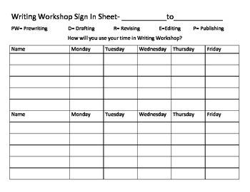Writing Process Data Sheet