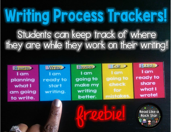 The Writing Process Desk Trackers Freebie