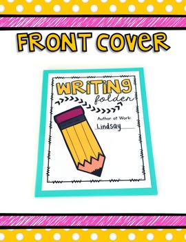 Writing Process Folder -- Colored & Ink Friendly