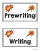Writing Process Folder Cover and Tabs