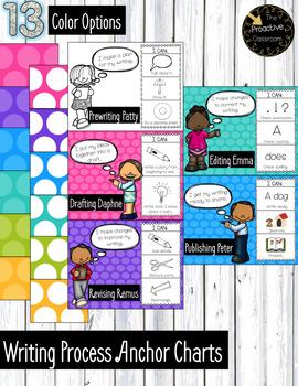 Writing Process Friends Anchor Charts Dots