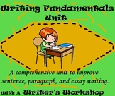 Writing Process  & Fundamentals Unit-BUNDLED-Differentiated, Common Core