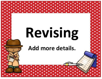 Writing Process Large~ Red Polka Dot Detective