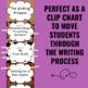 Writing Process Clip Chart - Animal Print Theme