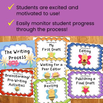 Writing Process Clip Chart - Bee Theme