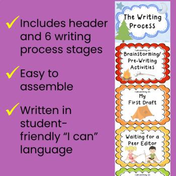 Writing Process Clip Chart - Camping Theme