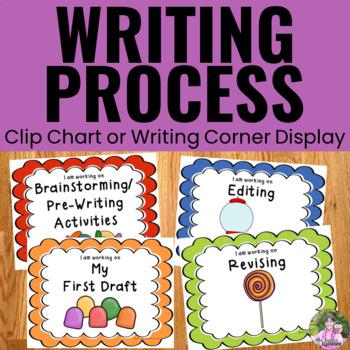 Writing Process Clip Chart - Candy Theme