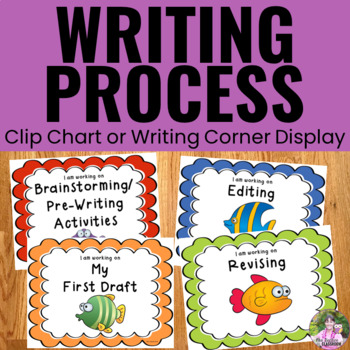 Writing Process Clip Chart - Fish Theme
