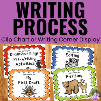 Writing Process Clip Chart - Forest Animal Theme