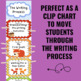 Writing Process Clip Chart - Fox Theme