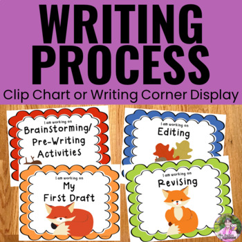 Writing Process Clip Chart Posters - Fox Theme