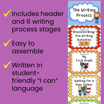 Writing Process Clip Chart Posters - Hollywood Movie Theme