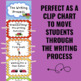 Writing Process Clip Chart - Ladybug Theme