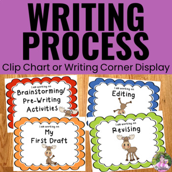 Writing Process Clip Chart - Moose Theme