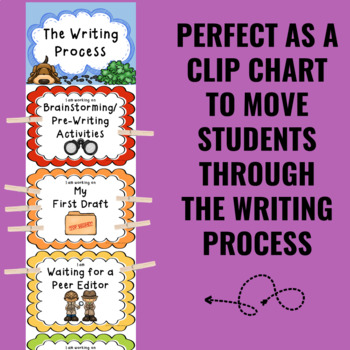 Writing Process Clip Chart - Detective Theme