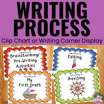Writing Process Clip Chart - Nautical Theme