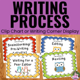 Writing Process Clip Chart - Owl Theme