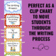 Writing Process Clip Chart Posters - Rainbow Theme