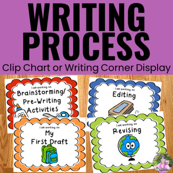 Writing Process Clip Chart - School Theme