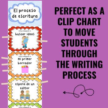 Writing Process Clip Chart ~SPANISH~