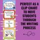 Writing Process Clip Chart - Superhero Theme