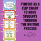 Writing Process Clip Chart - Turtle Theme