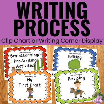 Writing Process Clip Chart - Western Theme