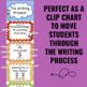 Writing Process Clip Chart - Zebra Theme
