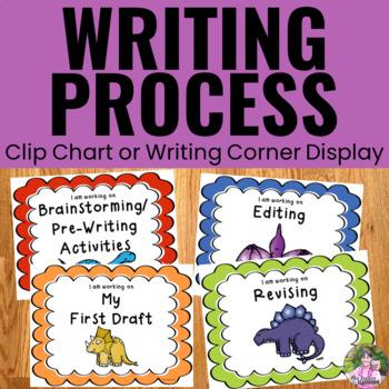 Writing Process Clip Chart - Dinosaur Theme
