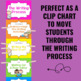 Writing Process Clip Chart - NEON Theme