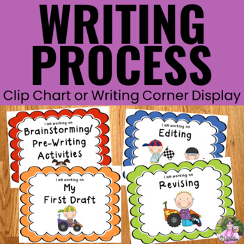 Writing Process Clip Chart - Racing Theme