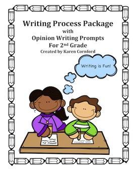 Writing Process Package with Opinion Writing Prompts for Grade 2