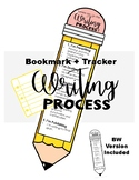 Writing Process Pencil - Bookmark - Tracker 2 Versions Included