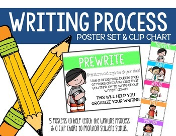 Writing Process Poster Set and Clip Chart