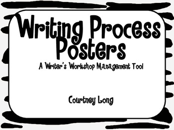 Writing Process Poster and Management with Picture Clues - Zebra