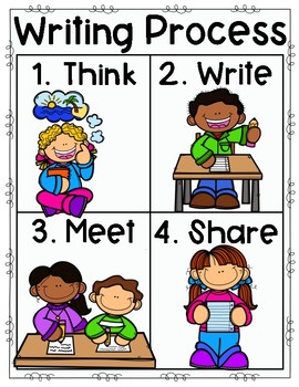 Writing Process Poster for Little Ones