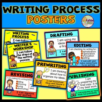 Writing Process Posters for Writing Workshop