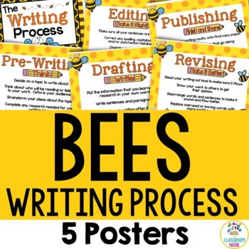 Bee Theme: Writing Process Posters