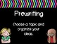 Writing Process Posters-Black and Brights Theme