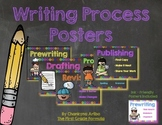 Writing Process Posters:  Bright Chalkboard Edition