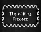 Writing Process Posters (Chalkboard Theme)