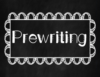 Writing Process Posters (Chalkboard Theme)