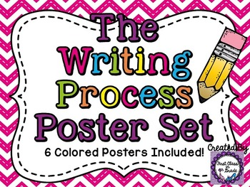 Writing Process Posters (Chevron)