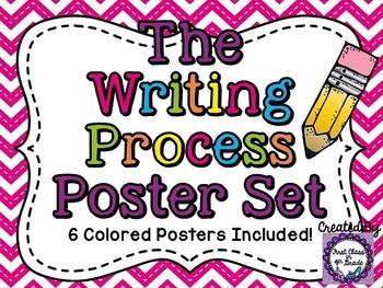 Writing Process Posters (Chevron)