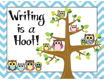 Writing Process Posters (Writing is a Hoot!)
